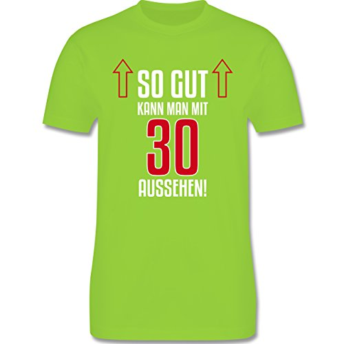 Geburtstag - So gut kann man mit 30 aussehen - Herren Premium T-Shirt Hellgrün
