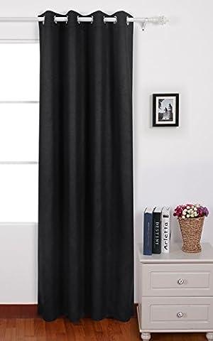 Deconovo Rideau Occultant à Oeillets 140x240cm Curtains Gaufré for Windows