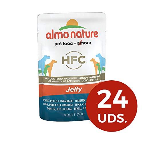 Almo nature Jelly Atún, Pollo y Queso - Paquete de 24 x...