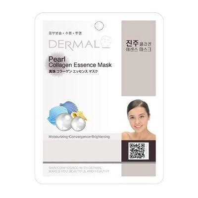 Dermal Korea Collagen Essence Full Face Facial Mask Sheet - Pearl (10 Pack) from Beautyspace