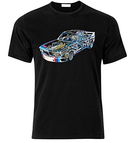 BMW 3,0CSL 1975 DTM Fan BEST fan TUNING SPEED RACE T-shirt size S-XXL Weihnachtsgeschenke Xmas Schwarz