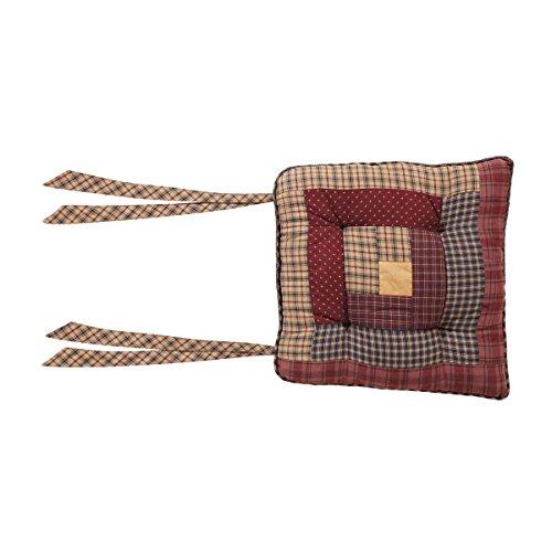 VHC Marken Millsboro (Stuhl Pad Log Cabin Patch, rot, 38,1x 38,1cm - Log Cabin Lodge Dekor