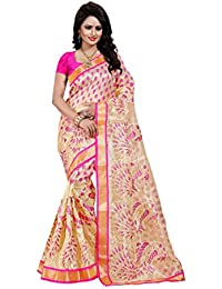 SATYAM WEAVES WOMEN'S ETHNIC WEAR EMBROIDERY NET JARI PINK COLOUR SAREE WITH EMBROIDERED BLOUSE PIECE.
