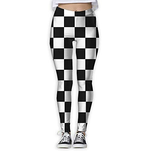 Deglogse Yogahosen, Trainingsgamaschen,Checkerboard Women's Stretchable Sports Running Yoga Workout Leggings Pants