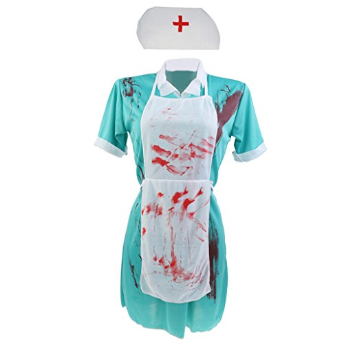 Gazechimp Sexy Halloween Damen Kostüm Damenkostüm Damen Set Zombie Vampir - Doktor (Sexy Zombie Krankenschwester)