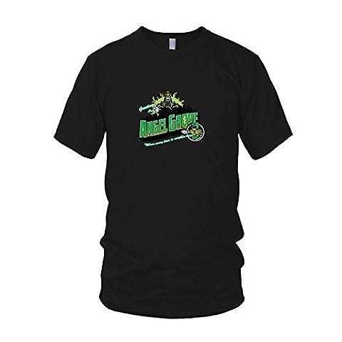 Greetings from Angel Grove Green - Herren T-Shirt, Größe: XXL, Farbe: schwarz (Schwarz Mighty Morphin Power Rangers Kostüm)