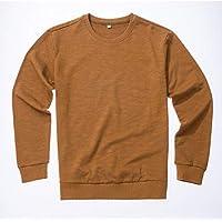 VIOY Casual Ropa de Hombre Otoño Invierno Suéter Flojo Cuello Redondo Pullover Cartas Imprimir Escudo,café,XXXL
