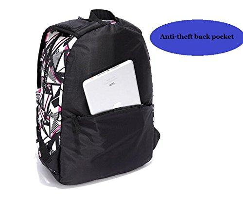 Mädchen-Segeltuch-Rucksack-kleine Frische Und Bunte Studenten-Umhängetasche A