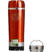 Yihya Portátil 12V 320ml Acero inoxidable Auto Coche Cigarette Lighter Poder Termos Copa Eléctrico Agua Calefacción de Ebullición Botella Copa con Base ...