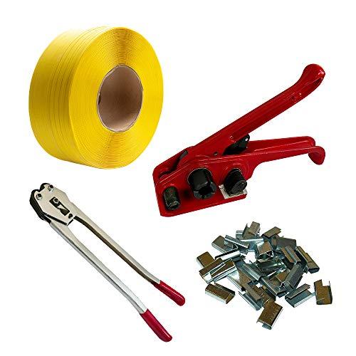 PP-Band Umreifungsset 16 mm, Spann- und Verschlussgerät + Metallverschlusshülsen