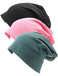 I VVEEL Unisex 3 Pack Indoors Soft Bequem Baumwoll Beanie für Haarausfall,  Krebs, Chemo e3e94ee1cb
