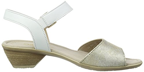 Gabor, Sandales Bout Ouvert Femme Multicolore (62 platino/weiss)