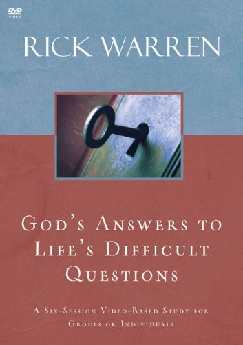 { GOD'S ANSWERS TO LIFE'S DIFFICULT QUESTIONS - IPS } By Warren, Rick ( Author ) [ Sep - 2009 ] [ DVD ] - Rick Dvd Warren