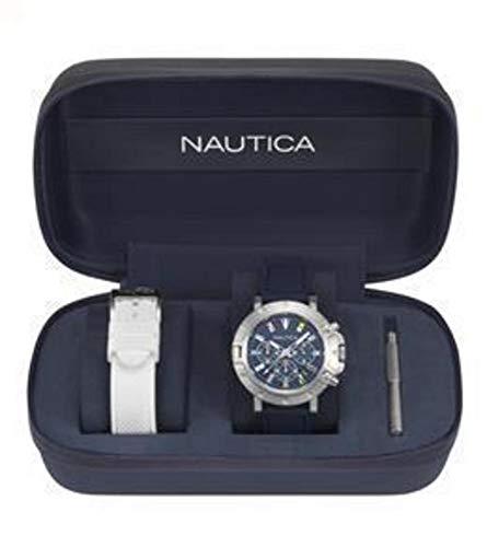 Nautica Herrenuhr Chronograph Quarz mit Silikonarmband – NAPPRH007