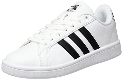 adidas-Damen-Cloudfoam-Advantage-Sneakers-Grau-FtwwhtCblackFtwwht-40-EU