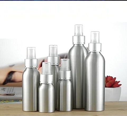 YOUZUO Für 100ml Aluminium-Legierung Fine Mist Spray Elektro-Aluminium-Düse Flaschen für Reise Reinigung Parfüm (Packung mit 2)