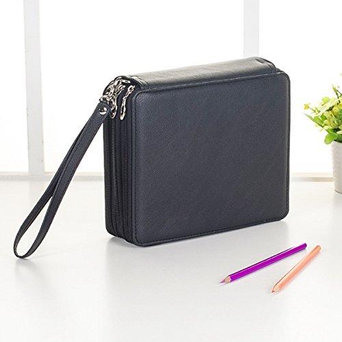 Preisvergleich Produktbild Tutoy 120 Slots Bleistift Fall Kosmetik Make-Up Tasche Lagerung Reise Zipper Pouch Student Stationery -Black
