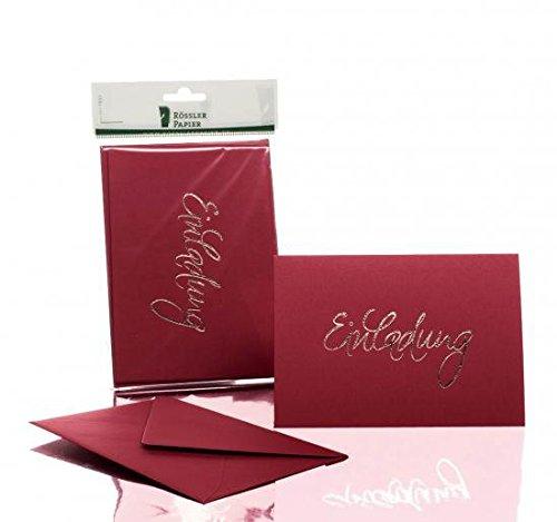 Rössler 1181955072 Kartenpack B6 (120 / 240 x 169 mm), - Einladung - rosso