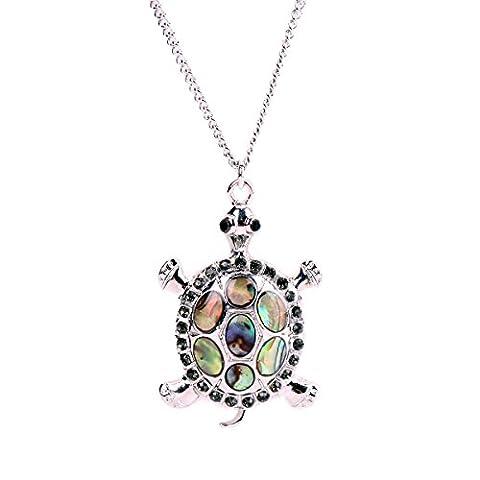 Collier Tortue - Gilind Collier Vintage Turtle Long pour bijoux