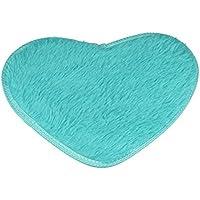 Bonita alfombra mullida antideslizante Keepwin en forma de corazón para la sala de estar, dormitorio de los niños, cocina, baño, decoración de guardería