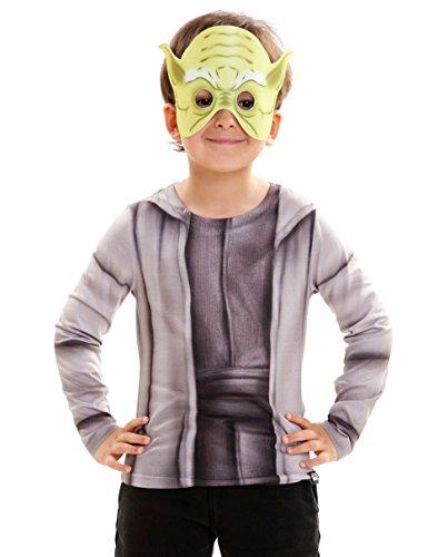 Jungen Yoda Kostüm - viving Kostüme viving costumes231044Yoda Jungen, Lange Ärmel t-Shirt (4-6Jahre, One Size)