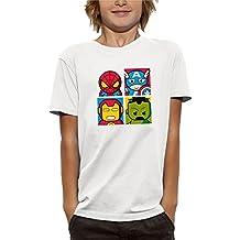PIXEL EVOLUTION Camiseta 3D 4 Super Heroes EN Realidad Aumentada Niño