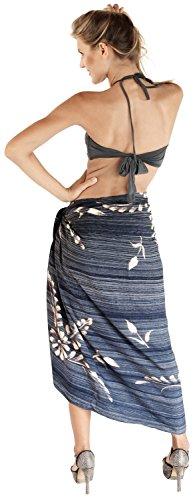 Bademode Verpackung Pareo Badeanzug Rock Badebekleidung Frauen Sarong Pool tragen Badeanzug Zeitkleidung verschleiern Nebel Grau