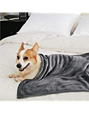 Fluffy's Luxurious Dog/Cat Blanket, Soft and Warm Pet Throw for Dogs & Cats (Black) (M 35X45)