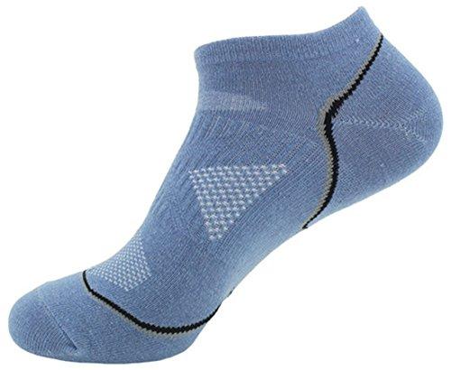 langxi da uomo a taglio basso invisibile calzini sportive in cotone Light Blue Medium