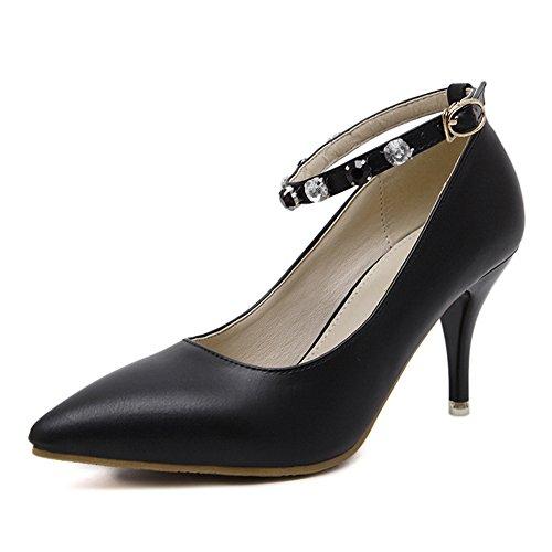 XTIAN - Scarpe chiuse Donna , nero (nero), 39 EU(245)