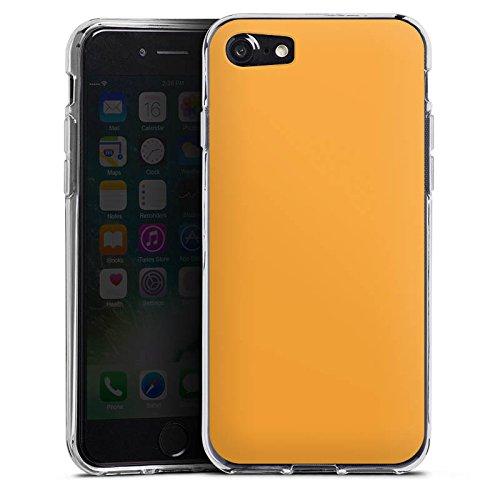 Apple iPhone X Silikon Hülle Case Schutzhülle Melonen Farbe Orange Silikon Case transparent
