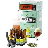 Kit de Brassage Débutant Complet, Je Brasse et j'embouteille 4 litres de bière - Idée Cadeau 100% découverte - Je Brasse…