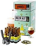 Saveur Bière - Kit de Brassage Débutant Complet, Je Brasse et j'embouteille Une bière ambrée - 4L de bière Ambrée, Idée Cadeau 100% découverte
