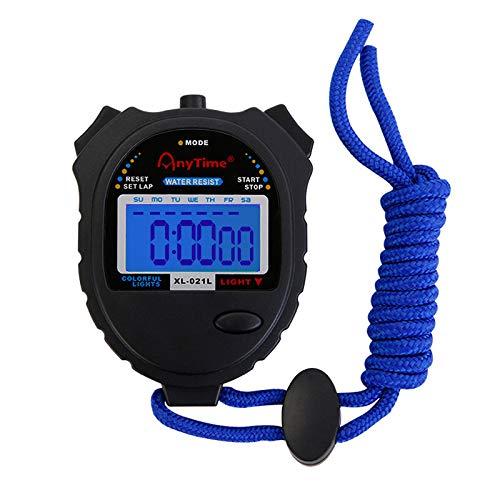 Stoppuhr 1 / 100Th Second Clock Rainproof Digital Timer für Sport Match/Wettbewerb/Coach/Schiedsrichter/Training/Timing (Coach Wecker)