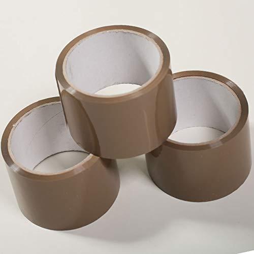 3 Rollen. Klebeband. 50mm x 50m. Acryl. Braun. Packband. Paketband. Paketklebeband. Verpackungsband. Band.