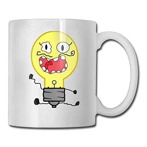 DHIHAS Strong Stability Durable Kaffeebecher Unique Birthday Light Bulb Funny Ceramic Tea Cup -