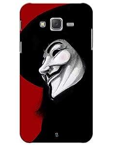 myPhoneMate Anonymous Mask Vendetta Designer Printed Hard Matte Mobile Case Back Cover for Samsung Galaxy J7 (2015)