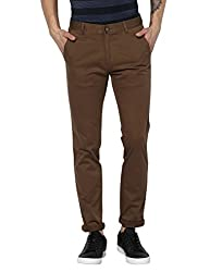 Monte Carlo Dark Brown Solid Formal Trouser