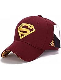 4c30fcefc1528 Llxln Moda Hombres Mujeres Unisex Snapback Exterior Ajustable Gorra  Superman Hip-Hop Estirar Hatd