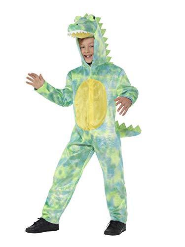 SMIFFY 'S 48353s Deluxe Dinosaurier Kostüm, grün, S-UK Alter 4-6Jahre