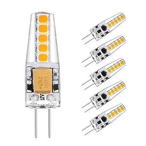 ascher 5x g4 2w ampoules led equivalent lampe halog ne 20w 220 lumens ac dc 12v blanc. Black Bedroom Furniture Sets. Home Design Ideas