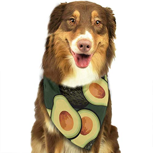 Sdltkhy Avocado Fruit Pattern Pet Dog Cat Bandanas Triangle Bibs Pet Scarf Dog Neckerchief Headkerchief Pet Accessories (Supplies Shamrock-party)