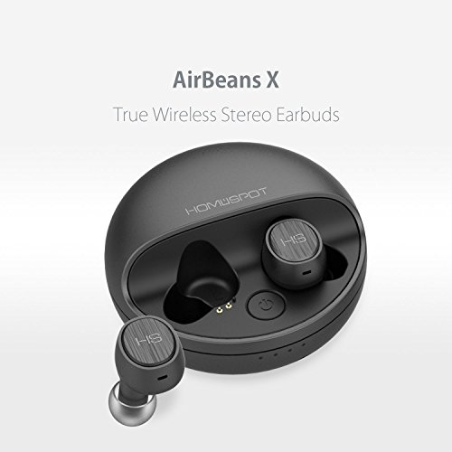 Bluetooth Kopfhörer in-ear True Wireless Ear Pods Bluetooth Headset Kabellose Kopfhörer mit Mikrofon Noise Cancellation Ladeetui Sweatproof für iPhone Smartphones Tablets Laptop AirBeansX by HomeSpot thumbnail