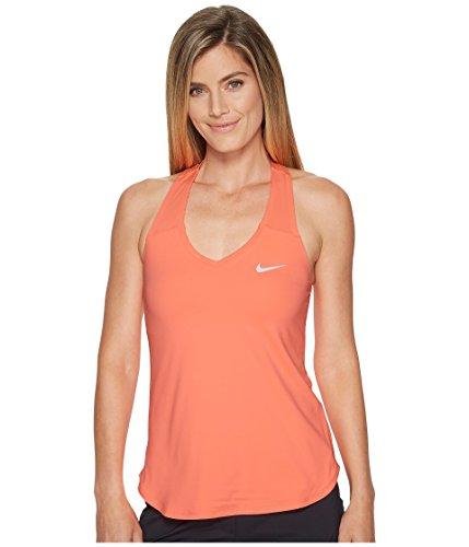 Nike Damen Court Team Pure Tank Top, Orange (Lava Glow/White), M