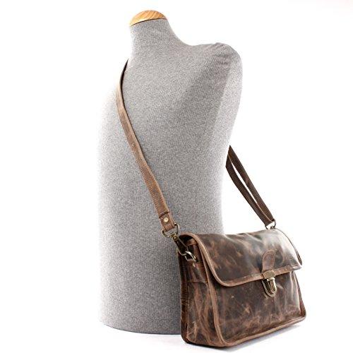 b37d840ac5f3f ... LECONI Schultertasche Leder Umhängetasche Damentasche Handtasche für  Damen   Frauen Ledertasche echtes Rindsleder im Vintage ...
