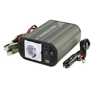 HQ INV400WU-12 Onduleur à sinus modifié 12 V / 400 W / port USB (Import Allemagne)