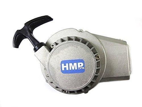 HMParts Aluminium Démarreur Démarreur à tirette pour 2-temps 47cc/49cc ATV Mini Pocket bike