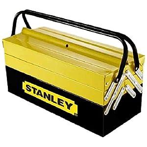 STANLEY 1-94-738 – Caja de herramientas metálica, 50.5 x 24.5 x 25 cm