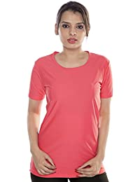 Carrel Women's Nylon Lycra Fabric Swimwear T-Shirt (AGSPL-3545)
