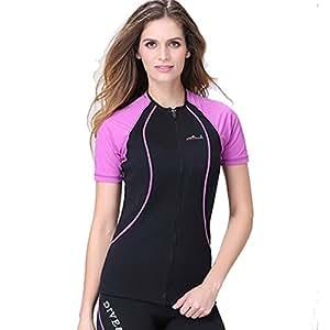 1,5mm in neoprene maglietta maniche corte muta da nuoto e immersioni, Snorkeling, Donna, Purple, EU Size - S